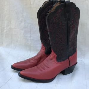 Ariat Red Black Cowboy Boots Worn Once! Sz 7